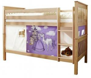 Poschodová Posteľ Kôň Fialový Sammy 90x200 Cm Prírodná