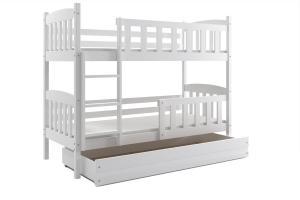 Poschodová posteľ - KUBO - 190x80cm - Biela - Biela