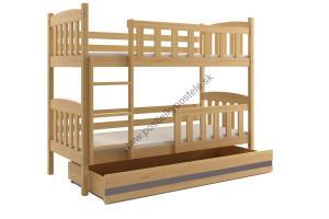 Poschodová posteľ KUBO - 200x90cm - Borovica - Grafitová