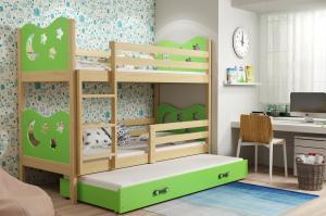 Poschodová posteľ pre troch MIKO 200x90