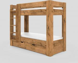 Poschodová posteľ REA PIKACHU ĽAVA, 80x200 Varianta: ORECH ROCKPILE