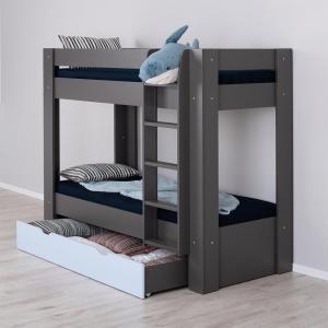 Poschodová posteľ REA PIKACHU PRAVÁ, 80x200 Varianta: ORECH ROCKPILE