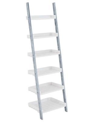 Poschodový regál Farve, 155 cm, sivá/biela