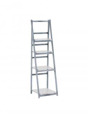 Poschodový regál Lilla, 151 cm, sivá/biela