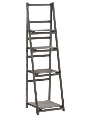 Poschodový regál Lilla, 151 cm, tmavohnedá
