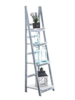 Poschodový regál Talma, 153 cm, biela/sivá