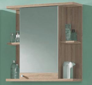 Kúpeľňová skrinka so zrkadlom Poseidon, dub Sonoma