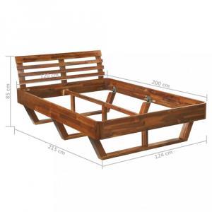 Posteľ akáciové drevo Dekorhome 120x200 cm