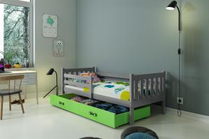 Posteľ CARINO 1 - 190x80cm - Grafitová - Zelená