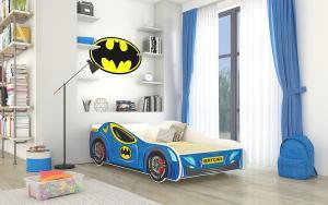 Posteľ pre deti 140x70 cm Batcar