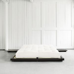 Posteľ s matracom Dock 180 + Comfort Mat – Black/Natural