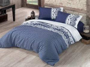 Posteľná bielizeň bavlna Canzone modrá Veľkosť: obliečka na vankúšik 40x40cm