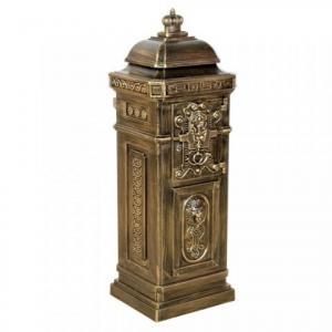 Poštová schránka antik svetlá mosadz