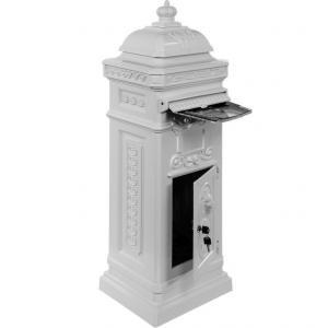 Poštová schránka starožitná antik - biela