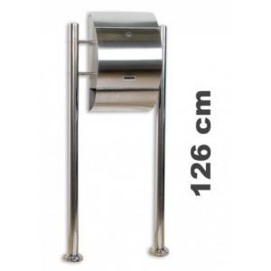 Poštová schránka stojacia - nerezová oceľ 33 x 48 x 17 cm