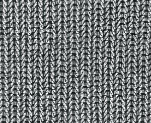 Poťah na kreslo Creta bielo-čierny