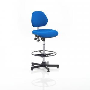Pracovná dielenská stolička Augusta, výška 650-900 mm, modrá