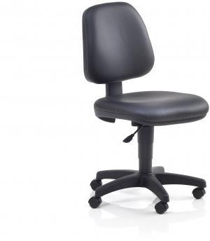 Pracovná dielenská stolička Darwin, výška 430-550 mm, čierna