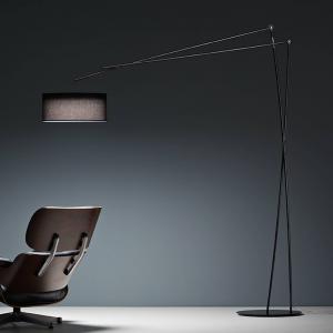 PRANDINA Prandina Effimera F50 stojacia lampa čierna lesklá