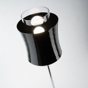 PRANDINA Prandina Fez F1 stojacia lampa čierna lesklá