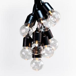 Predĺženie LED svetelnej reťaze DecoKing Indrustrial Bulb, 10 svetielok, dĺžka 3 m