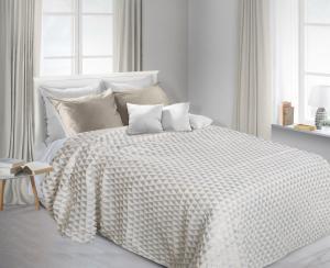 Prehoz na posteľ 200x150cm - Eurofirany - Greta (biela). Akcia -10%. Sme autorizovaný predajca Eurofirany.