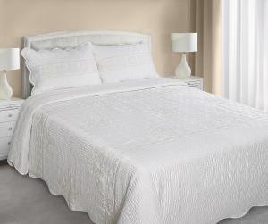 Prehoz na posteľ 210x170cm - Eurofirany - Agnes (krémová). Akcia -9%. Sme autorizovaný predajca Eurofirany.