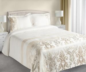 Prehoz na posteľ 210x170cm - Eurofirany - Betty (krémová). Akcia -9%. Sme autorizovaný predajca Eurofirany.