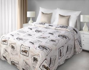 Prehoz na posteľ 210x170cm - Eurofirany - Bil (béžová). Akcia -43%. Sme autorizovaný predajca Eurofirany.