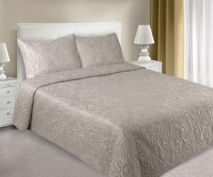 Prehoz na posteľ 210x170cm - Eurofirany - Damask (béžová). Akcia -9%. Sme autorizovaný predajca Eurofirany.