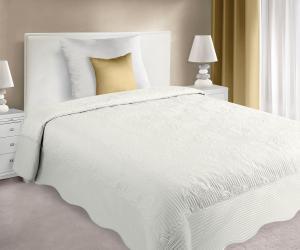 Prehoz na posteľ 210x170cm - Eurofirany - Laura (béžová). Akcia -10%. Sme autorizovaný predajca Eurofirany.