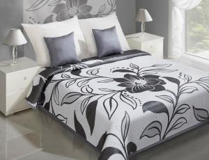 Prehoz na posteľ 210x170cm - Eurofirany - Lovetta (metalická). Akcia -10%. Sme autorizovaný predajca Eurofirany.