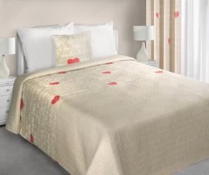 Prehoz na posteľ 240x220cm - Eurofirany - Selin (béžová). Akcia -10%. Sme autorizovaný predajca Eurofirany.