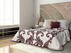 Prehoz na posteľ 260x240cm - Eurofirany - Fina (bordová). Akcia -10%. Sme autorizovaný predajca Eurofirany.