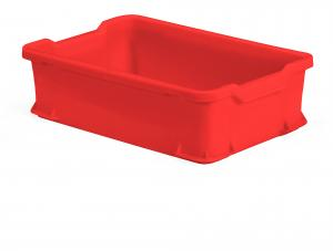 Prepravka plastová Pryce, 600x400x145 mm, 24 L, červená