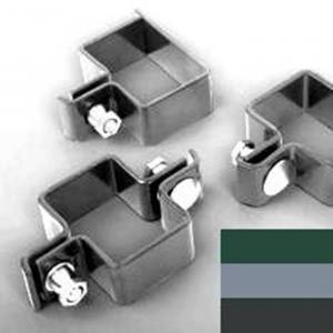 Príchytka panelov pre stĺpiky 40x60mm Objímka zelená pre obdĺžnikové stĺpiky-koncová