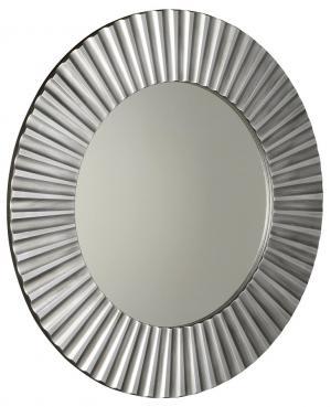 Pride PD902 zrkadlo v ráme, priemer 90cm, strieborné