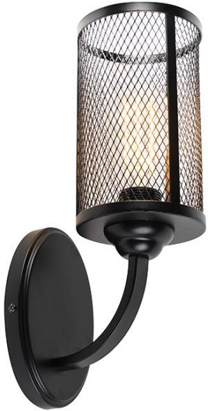 Priemyselná nástenná lampa čierna - gáza