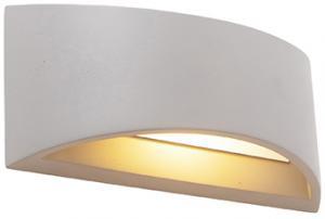 Priemyselná nástenná lampa šedý betón - Creil