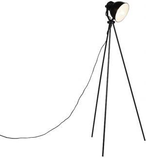 Priemyselná stojaca lampa čierna - Frodo