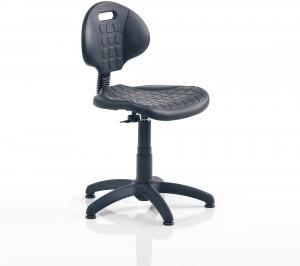 Priemyselná stolička Kilda, Š 470 x H 135 V 520 - 540 mm ,čierna
