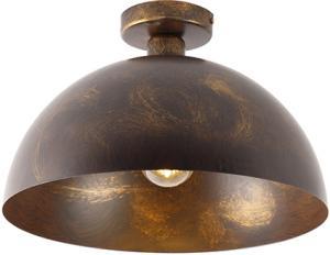 Priemyselné stropné svietidlo hrdzavohnedé 35 cm - Magna Classic