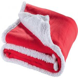 Prikrývka Sherpa červená za zvýhodnenú cenu