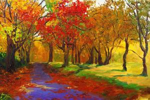 Príroda Fototapety - Stromy v jeseni 396 - latexová