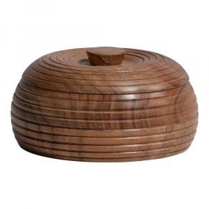 Prírodná dóza z akáciového dreva BePureHome, 11 x 6 cm