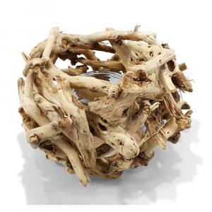 Prírodné svietnik z naplaveného dreva - 13 * 26 * 16cm