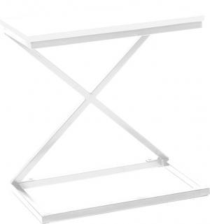 Príručný/nočný stolík, biela, APIA