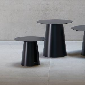 Príručný stôl FEEL | Ø 40 cm » čierna