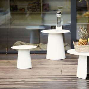 Príručný stôl FEEL | Ø 50 cm » biela