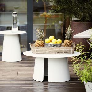Príručný stôl FEEL | Ø 80 cm » biela